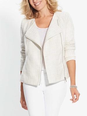Veste brillante zippée poitrine standard
