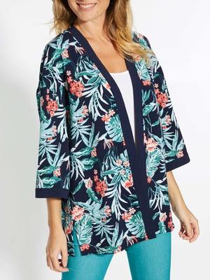 Veste en crêpe forme kimono