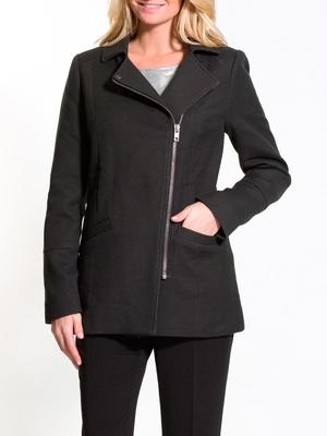 Manteau court zippé, poitrine standard