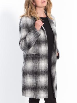 Manteau à carreaux, 25% laine