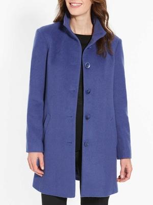 Manteau col montant, 49% laine