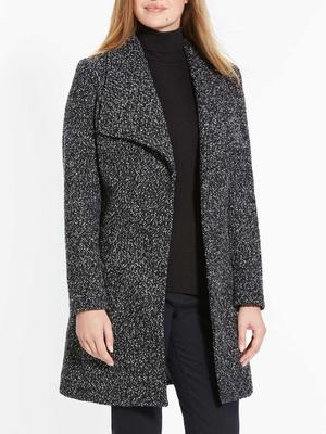 Manteau croisé tweed
