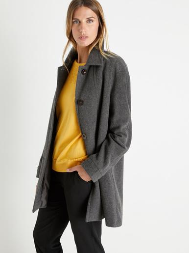 Manteau 3/4, drap de laine et cachemire