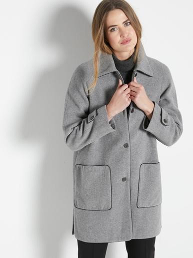 Manteau caban laine et cachemire