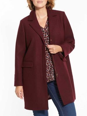 Manteau zippé, spécial poitrine généreus