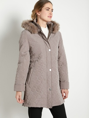 Trench Coat Parka Femme Grande Taille Long Imperméable