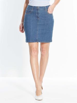 Jupe jean 5 poches, vous mesurez moins d
