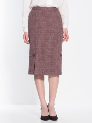 Jupe droite en tweed