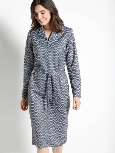 Robe zippée, manches longues