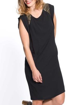 Robe noire habillée sans manches