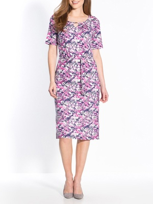 Robe manches courtes, maille milano