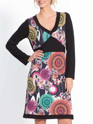 Robe imprimée patchwork