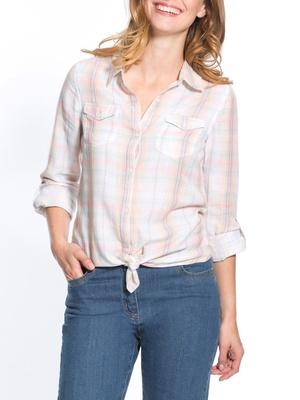 Chemise à carreaux tissé teint