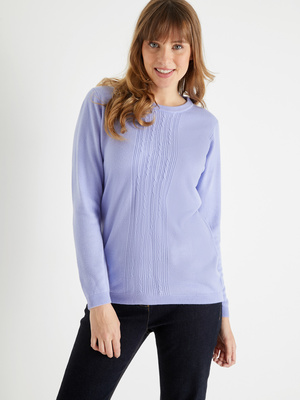 Pull toucher cachemire, manches longues