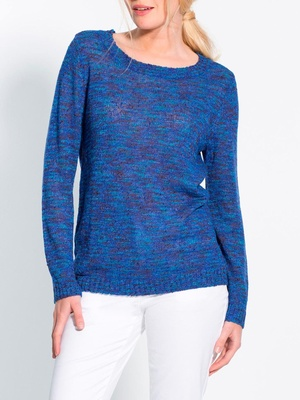 Pull encolure ronde, maille fantaisie