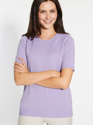 Pull manches courtes, encolure ronde