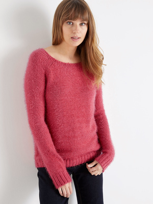 Pull maille poilue