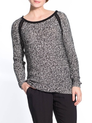Pull bicolore, manches longues