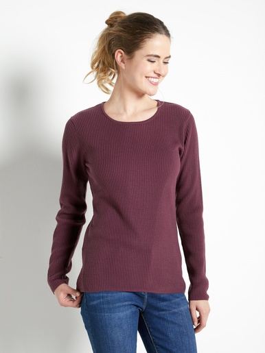 Pull chaussette encolure ronde