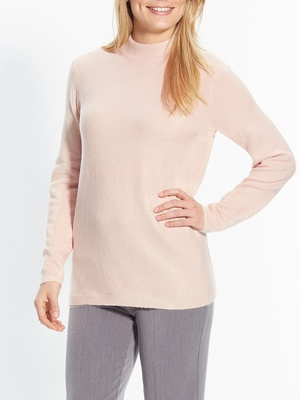 Pull col montant, maille mousseuse