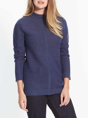 Pull col montant, 30% laine mérinos