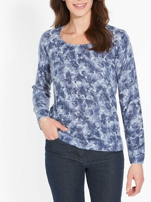 Pull encolure ronde, manches longues