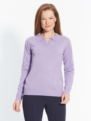 Pull polo, manches longues