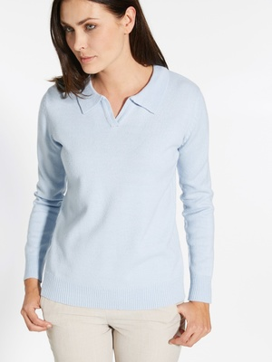 Pull-polo, manches longues