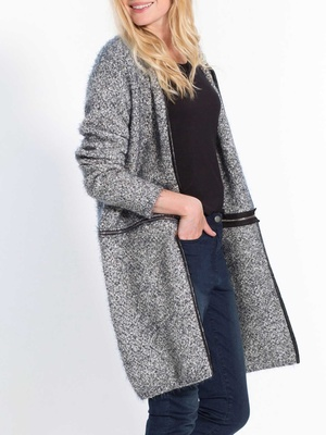 Gilet long transformable par zip