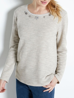 Sweat molleton avec sequins