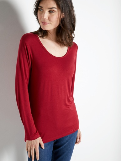 Tee-shirt uni, manches longues