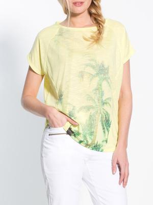 Tee-shirt fluo imprimé palmiers