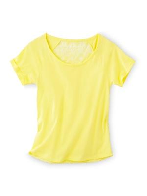 Tee-shirt brodé au dos, manches courtes