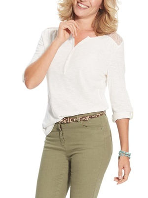 Tee-shirt manches retroussables