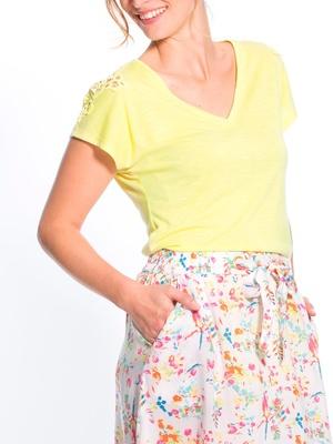 Tee-shirt sans manches avec macramé