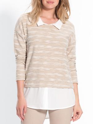 Tee-shirt bi-matière, effet 2 en 1