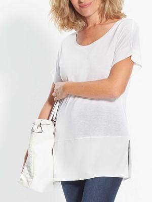 Tee-shirt bi-matière, stature - d'1,60m