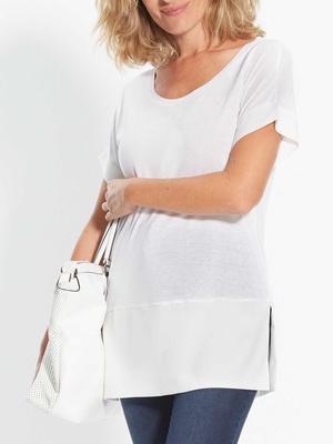 Tee-shirt bi-matière, stature + d'1,69m