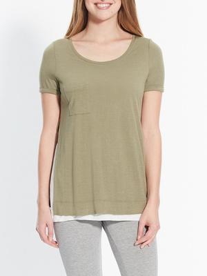 Tee-shirt bicolore, effet 2 en 1