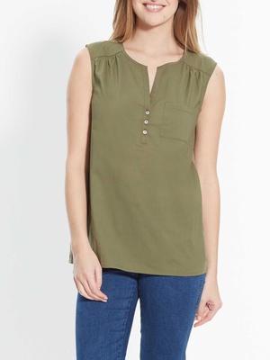 Tee-shirt bi-matière, sans manches