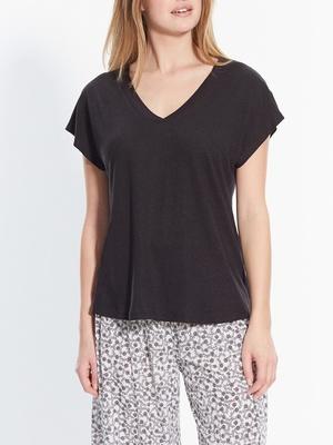 Tee-shirt évasé, sans manches