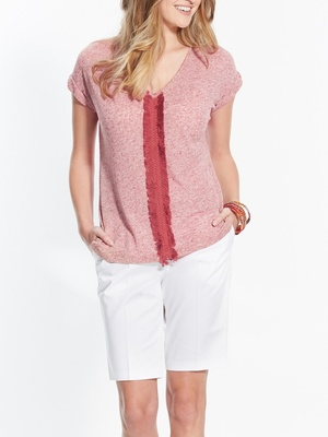 T-shirt frangé