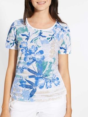 Tee-shirt fantaisie, manches courtes