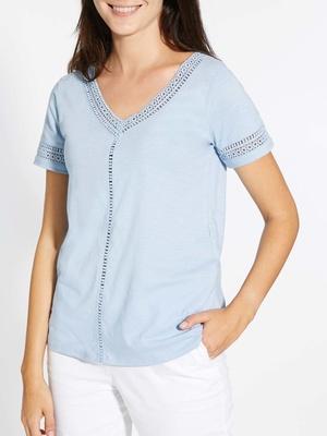Tee-shirt avec macramé