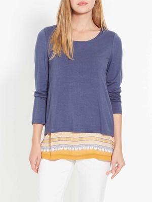 Tee-shirt tunique bi-matière