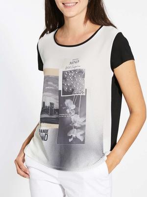 Tee-shirt bi-matière, forme T
