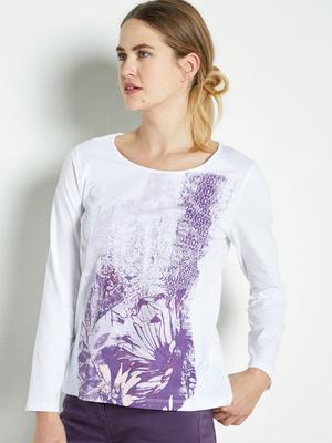 Tee-shirt manches longues, pur coton
