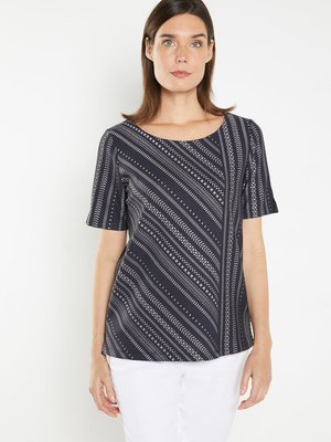 Tee-shirt Qualité n°1, maille jacquard