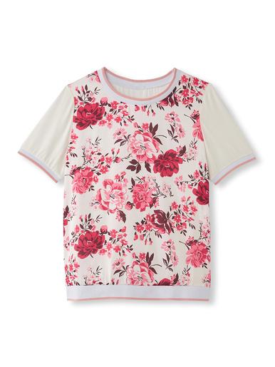 Tee-shirt bi-matière, raffiné