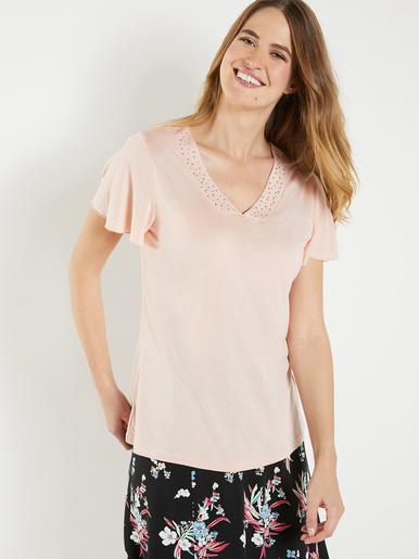 Tee-shirt en lyocell avec strass